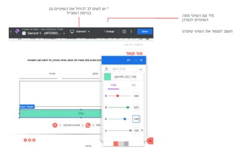 גוגל אופטימייז שמירת שינויים